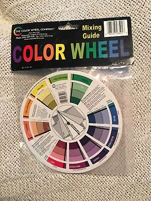 OPHIR Portable Color Wheel Mixing Guide for Tattoo Makeup Hobby Painting Supply