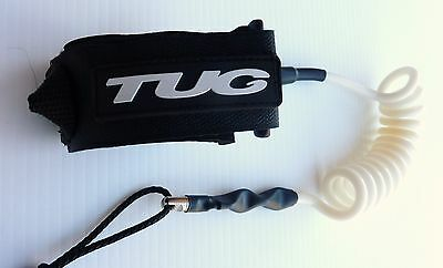 TUG Bodyboard basic coiled bicep leash 3 cuff sizes 4 cord colours