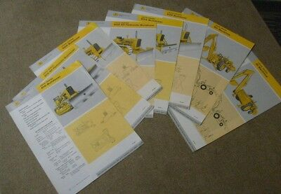 John Deere Specification Sheets 1960's original Bulldozers Backhoe Vintage JD