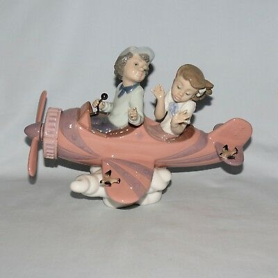 Lladro Spain Dont Look Down Aeroplane figure in original box 05698