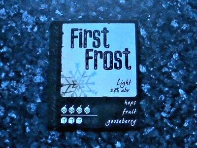 Hydes First Frost Beer Pump Clip Sign