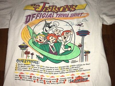 Vintage The Jetsons Official Trivia Shirt Size Medium Hanna Barbera