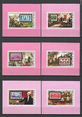 Upper Volta 1974 Sc#352-7 American Bicentennial-MNH Proof Set   Beautiful!!
