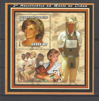 Mozambique 2002  5th Anniv. Death of Princess Diana-Diana With Children MNH S/S