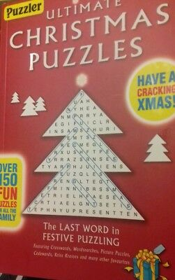 Ultimate Christmas Puzzle Book by Puzzler over 150 puzzles Great Gift New Book