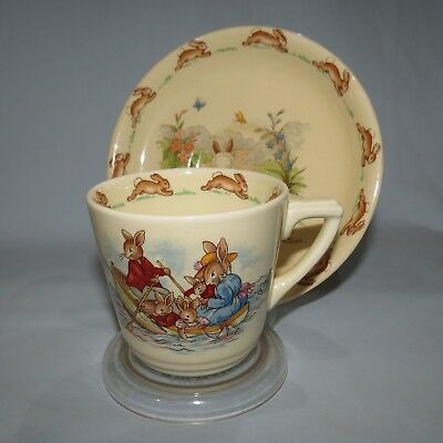 old ROYAL DOULTON BUNNYKINS CASINO CUP AND SAUCER #1 BARBARA VERNON