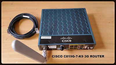 Lot of 10 C819G+7-K9 - Cisco 819 Secure M2M GW with GLOBAL HSPA+ R7 w/ SMS/GPS