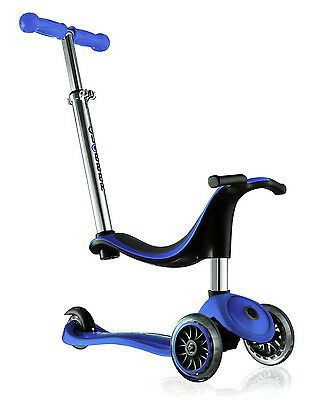 GLOBBER EVO 4-in-1 Adjustable SCOOTER Convertible TRIKE Blue *FREE SHIPPING*