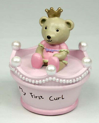 NEW BORN BABY GIRLTeddy Princess 1st Curl Box