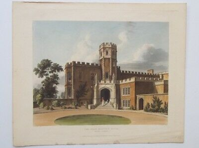 Antique Lithograph School Rugby Headmaster 1816 Limited Edition Original