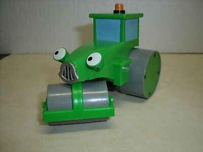 Bob the Builder Talking Rolley Green Construction Steam Roller Hasbro 2001