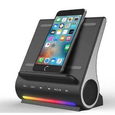 Wireless Charging & Docking Station Black Cell Phone Charger USB Ports Speakers