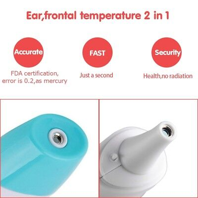 8 in 1 Digital Ear Thermometer Adult Baby Infra LCD Temperature Medical T2 O3Q8
