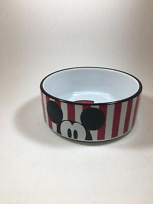Disney Mickey Mouse/ Porcelain Dog/Cat Bowl