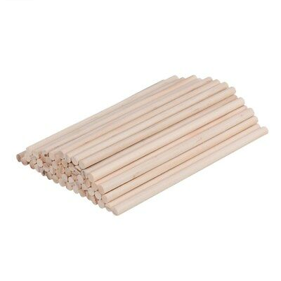 100pcs 30x0.6cm Wooden Pine Rods Premium Wooden Dowel for Crafts Woodworking DIY