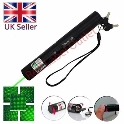 303 Pointer Laser Lazer Pen Beam Light Adjustable Focus 532nm <1mw Green