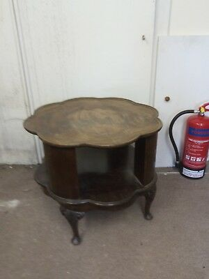 antique rotating cabinet or coffee table retro revolving drinks table