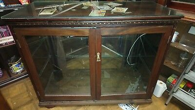 Solid Wooden Retail Shop Display Cabinet with Glass Top