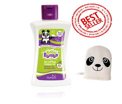 TianDe Baby Natural Eco Baby Bambo Hair Body Shampoo-Gel & Baby cotton sponge