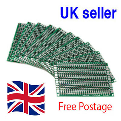 Double Sided 5x7cm Breadboard PCB Strip board Printed Circuit Prototype