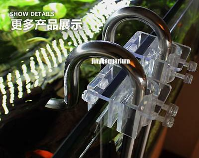 Lily Glass Pipe Holder Fix Inflow Outflow 13mm 17mm Arcylic Aquarium Water Plant