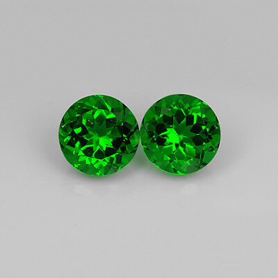 6.87 Ct Top Quality AAA Green Natural Moldavite Pair Round Cut Loose Gemstone