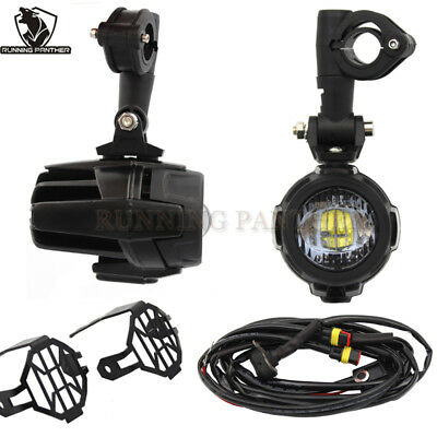 Cree LED Auxiliary Fog Light Assemblie Safety Lamp For BMW  F800GS R1200GS ADV