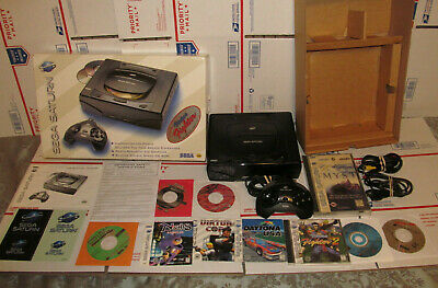 Sega Saturn Complete CIB Console NTSC System Bundle w/ 10 Games New Save Battery