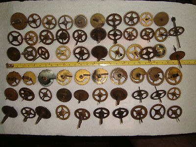 Big Lot Antique & Vintage Clock Wheels Gears for Clockmaker Repairers ~ L415