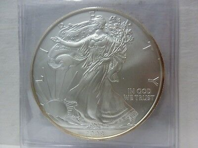 "2008-W ""Burnished"" American Silver Eagle"
