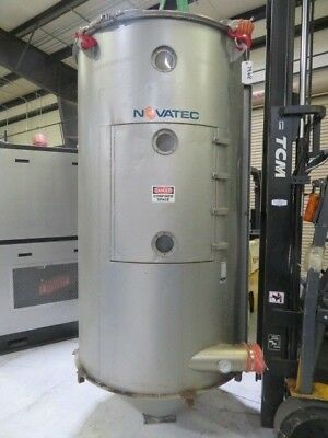 Novatec Used Material Drying Hopper, 2000 lb capacity, 53.6 cu ft, #7968