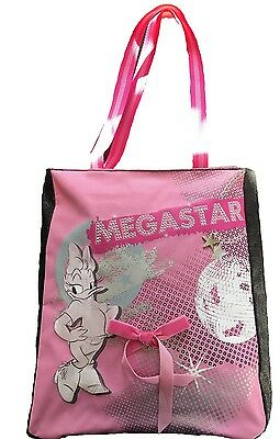10 X Disney Daisy Duck Pink and Black Shopper Bags with Diamante Detail