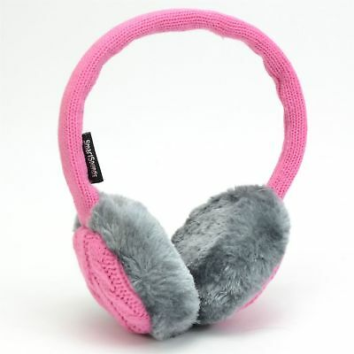 SmartSounds Music Earmuff Headphones Knitted Pink and Grey X 20
