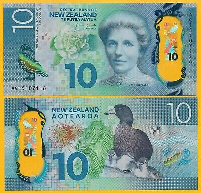 New Zealand 10 Dollars p-192 2015 UNC Banknote