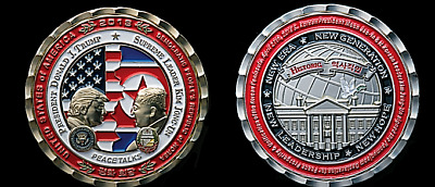 Presale~ Korea Peace Talks ~ Trump & Kim Jong~Un ~Official White House Coin Sale