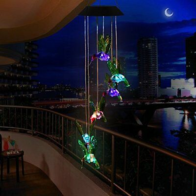 Led Solar Powered Wind Chime Color-Changing Outdoor Waterproof Garden Decor