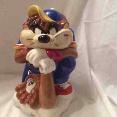 "Looney Tunes Taz ""batter Up""  Ceramic Cookie Jar"