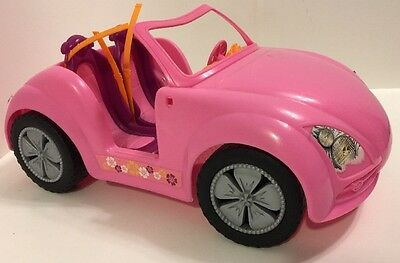 Barbie Doll and Glam Convertible Car Pink