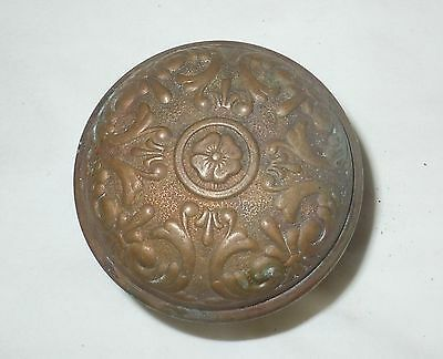 1 Ornate Victorian Brass Door Knob Antique Eastlake Details 2