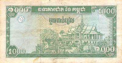Cambodia  1000  Riels  ND. 1995   P 44a  Series  A1  Circulated Banknote A418