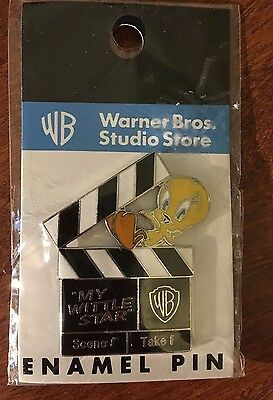 1999 SEALED Tweety Bird Enameled Pin My Little Star-  Warner Bros Studio Store