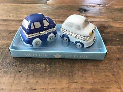 NEW Mud Pie Little Cars First Tooth And First Curl Set