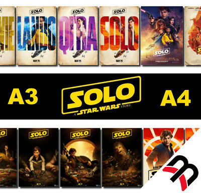 Solo: A Star Wars Story Poster, A4 260gsm, A3 210gsm Movie A4 Poster Prints, Art