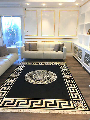m ander teppich rund 150 cm rot kunst seide medusa carpet rug versac eur 129 00 picclick de. Black Bedroom Furniture Sets. Home Design Ideas