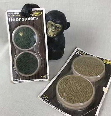 2 Sets Melard Vintage Carpet Back Floor Savers Furniture Protector Slider Caster