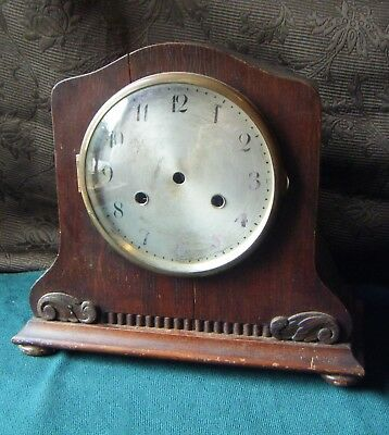 Empty Mantel Clock Case, Brass Bezel - Spares/Repair