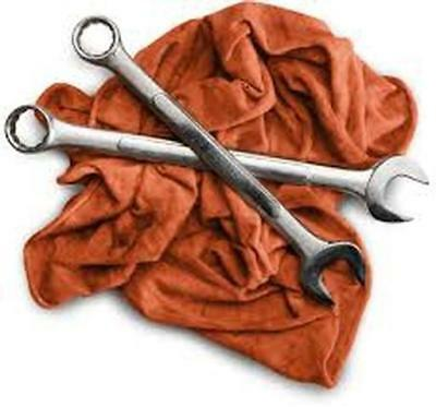 Used Red and/or Blue Cotton Mechanics Rags