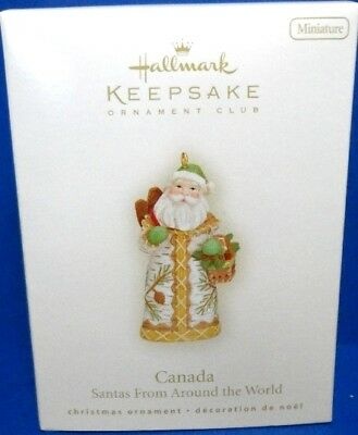 2008 Canada Santas From Around the World Hallmark Miniature Ornament