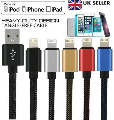 Strong Braided USB Data Sync Charger Cable Lead for iPhone 7 6 5 5S 5C 6S 6+ 8 X