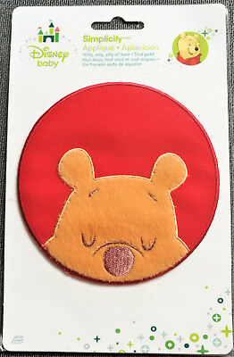 @disney Winnie The Pooh Sleeping Iron-On/sew Applique/ Cloth Patch@nip
